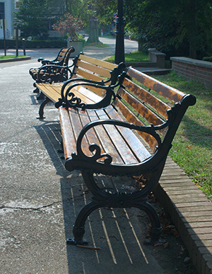 Picture of empty benches